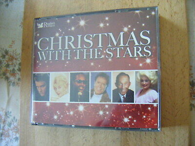 Christmas With The Stars [READERS DIGEST With BOOKLET] - 4 Cd Set - VG • 2.49£