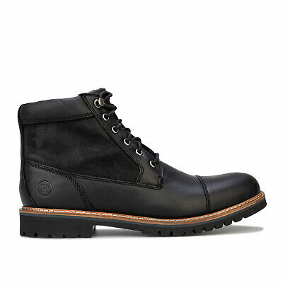 Mens Rockport Marshall Rugged Cap Toe Boots In Black • 53.94£