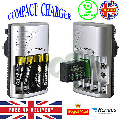 £8.99 • Buy NEW Lloytron Mains Battery Charger For AA  AAA Or 9V PP3 UK FREE DELIVERY