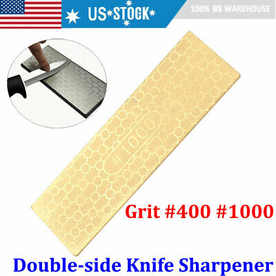 $8.07 • Buy 400/1000# Double Side Diamond Knife Sharpening Stone Sharpener Whetstone