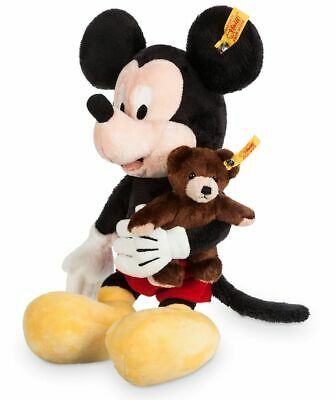 $75.95 • Buy Disney Parks Mickey Mouse With Teddy Bear Plush By Steiff 13 1/2'' New With Tags