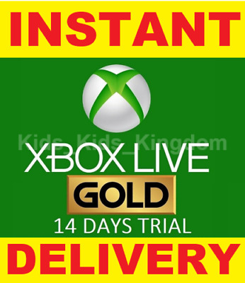 $5.98 • Buy Xbox Live 14 Day (2 Weeks) Gold Trial Code Instant Dispatch 24/7