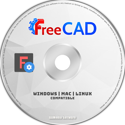 FreeCAD - 2D 3D CAD - Uses AutoCAD DWG File - Computer Aided Design Software DVD • 4.15£