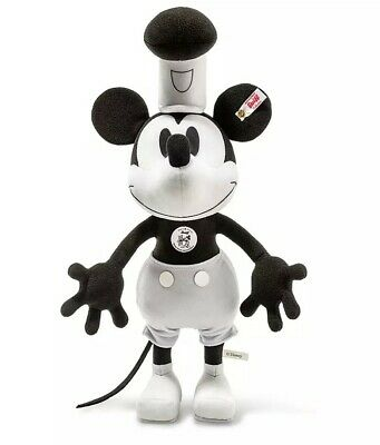 $399 • Buy Steiff Mickey Mouse As Steamboat Willie Collectible LIMITED EDITION