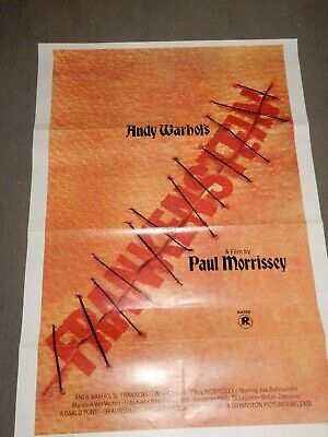 $79.99 • Buy VINTAGE Movie Poster 27x41~Andy Warhol's FRANKENSTEIN,1974-Paul Morrissey,Udo Ki