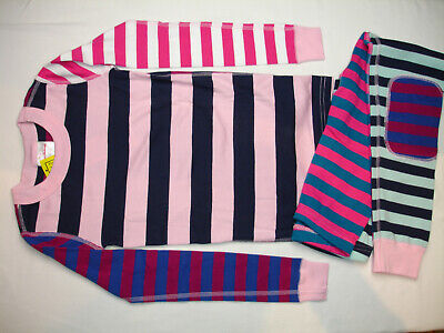 $27.90 • Buy NWT Hanna Andersson PURPLE MIX IT UP STRIPE ORGANIC PAJAMAS GIRL US Size 3, 8,10
