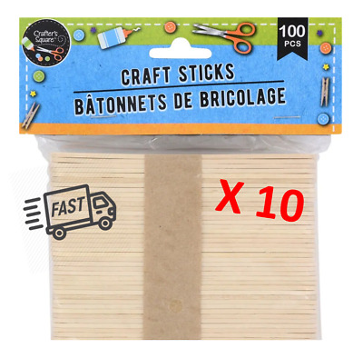 Brand New! Wooden Craft / Popsicle Sticks - Natural 1000 Pk • 21.25$