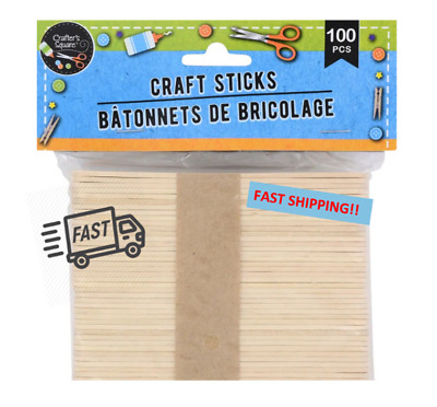 Brand New! Wooden Craft / Popsicle Sticks - Natural 100 Pk • 8.42$