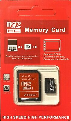 $7.95 • Buy 32GB 64GB Micro SD CLASS 10 TF Flash Memory Card For Camera Tablet Cell Phone