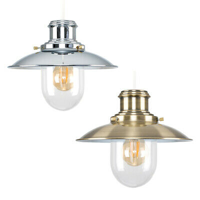 £27.99 • Buy Industrial Ceiling Light Shade Easy Fit Vintage Pendant Lighting Glass Shade