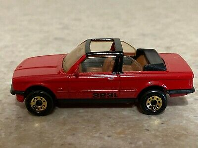 Matchbox 1985 Red BMW 323i Cabriolet With Gold Wheels - Loose  • 9.75$