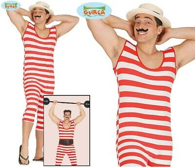 £13.99 • Buy Mens Victorian Old Time Bather Fancy Dress Costume Bathing Strongman Outfit Fg