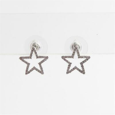 $ CDN33.03 • Buy Kate Spade New York Seeing Stars Pave Star Stud Earrings Silver Tone