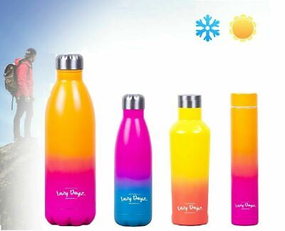 AU36.79 • Buy 300/480/500ml/1L Drink Water Bottle Insulated Double Walled Stainless Steel Gym