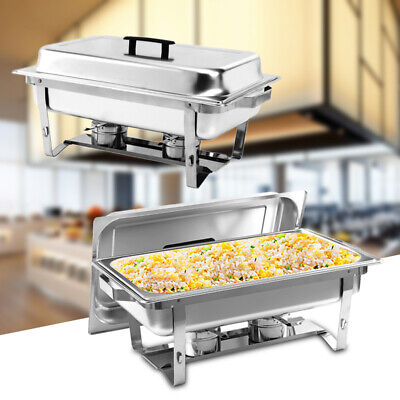 Commercial Chafing Cooks Food Warmer Buffet Server Hot Plate Stainless Steel • 30.95£