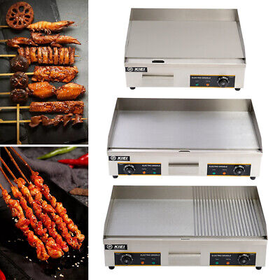 Commercial Electric Griddle Countertop BBQ Grill Stainless Steel Hot Plate • 195.95£