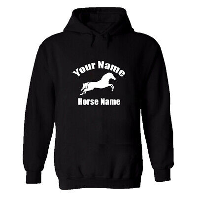 Horse Riding Hoodie Personalised Gypsy Cob Equestrian Jumping Rider Pony Unicorn • 14.99£