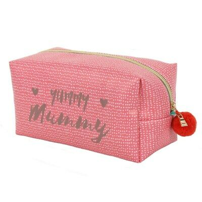 Yummy Mummy Make-Up Bag - Red Cube Shape - Gift For New Mums  • 6£