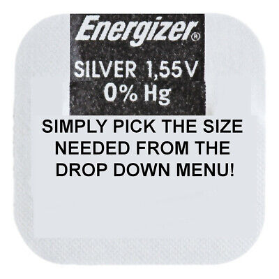 Genuine ENERGIZER Silver Oxide Watch Battery 1.55v - ALL SIZE SHOWCASE! • 1.60£