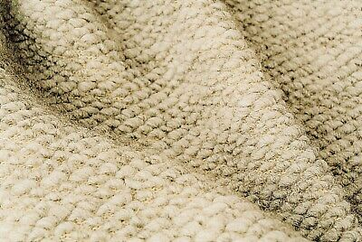 £6.99 • Buy Light Natural Oatmeal Boiled Wool Chunky Seeded Soft Knit Made In Italy C108