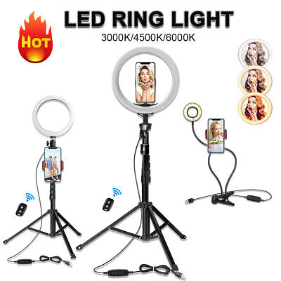 AU29.99 • Buy 4'8'10'3K-6KK Dimmable LED Ring Light Diffuser Stand Mirror Make Up Studio Video