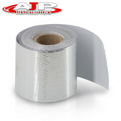 $13.99 • Buy High Temperature Heat Shield Wrap 2  X 180  Self Adhesive Silver Barrier Tape