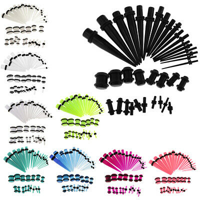 36pcs Acrylic Ear Taper Stretching Kit Expender Set Tunnel Plugs 14-00 Gauge • 4.97£