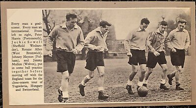 Signed 1940s Johnny Haynes Fulham FC England Autograph Football Cutting • 9.99£