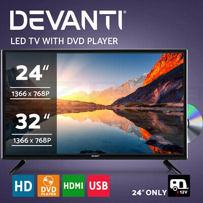 AU169.95 • Buy Devanti LED TV 24 Inch 32 Inch 24  32  Built-In DVD Player DC 12V Caravan Boat