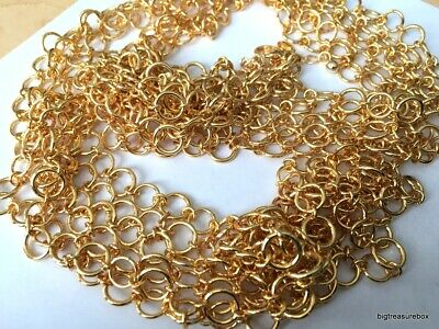 MINT FASHION Necklace SIGNED JOAN RIVERS LONG Multi Gold Tone Chain Lot I • 4.32$