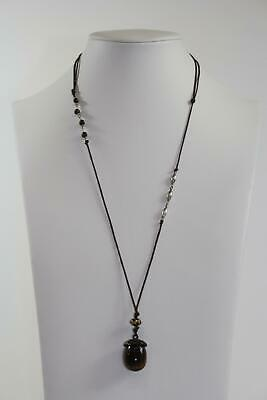 Tigers Eye Acorn Pendant Fashion Necklace (690) • 14.99$