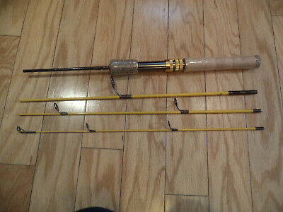eagle Claw Trail Master Spin / Fly Rod 4 Piece With Travel Bag - Never Used • 75$
