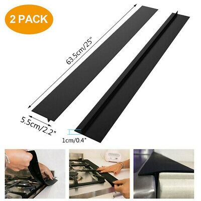 £7.19 • Buy 1-2Pcs Stove Counter Gap Silicone Cover Spill Guard Seals Filler For Cooker Roof