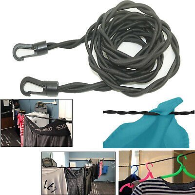 AU1.87 • Buy Pegless Travel Clothes Line Clothesline Washing Camping Hanging Men Gift On Sale