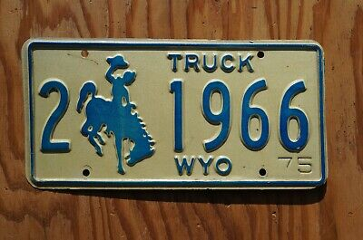1975 Wyoming Truck License Plate # 1966 • 19.99$