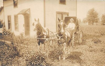 $ CDN23 • Buy G4/ Findlay Ohio RPPC Postcard J.W. Croft Company Horse Wagon Man