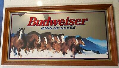 $ CDN508.67 • Buy Vintage Budweiser Clydesdale Mirror Sign