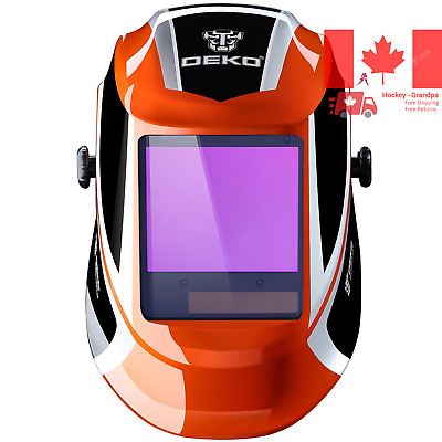 $ CDN91.99 • Buy Solar Powered Welding Helmet Auto Darkening Professional Hood With Wide Lens ...