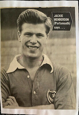 Signed Jackie Henderson Portsmouth FC Football Autograph Signature Arsenal FC • 7.99£