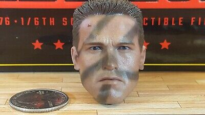$ CDN191.55 • Buy Hot Toys MMS276 Commando Predator Schwarzenegger Action Figure's 1/6 Head Sculpt