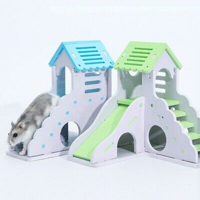 Pet Rat Hamster Toy Wooden Climbing Ladder Exercise House Cage Nest Accessory  • 15.35£