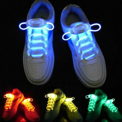 £6.79 • Buy LED Flash Shoe Laces Light Party Skating Safety Up Glow Shoelaces Shoestrings