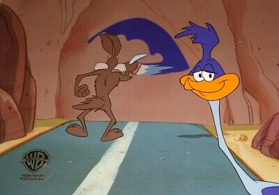 Wile E. Coyote Road Runner Energizer Commercial 1994 Original Production Cel! • 394.28£
