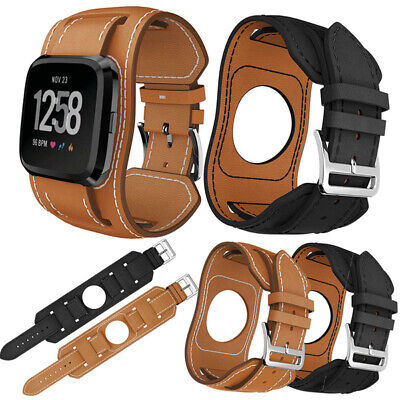$ CDN16 • Buy Genuine Leather Replacement Bracelet Wrist Watch Band Strap For Fitbit Versa 2