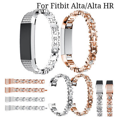 AU17.24 • Buy For Fitbit Alta HR Stainless Steel Rhinestone Replacement Strap Wrist Watch Band