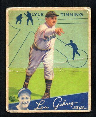 $13.99 • Buy LYLE TINNING ROOKIE   Cubs 1934 GOUDEY #71
