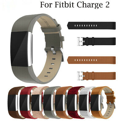 $ CDN12.39 • Buy For Fitbit Charge 2 Genuine Leather Replacement Strap Wrist Watch Band Bracelet