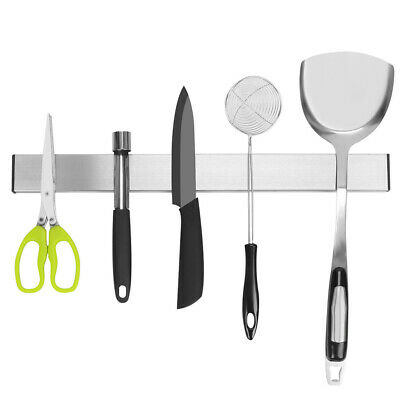 AU19.99 • Buy Self-Adhesive Magnetic Knife Storage Holder Chef Rack Strip Utensil 40CM