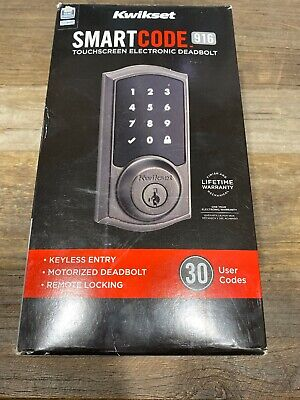 $ CDN189.61 • Buy New Kwikset 916 SmartCode 99160-003 Touchscreen Deadbolt, Bronze