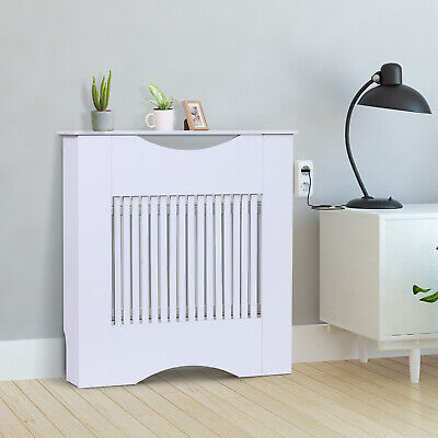£34.99 • Buy Radiator Cover Heater Cabinet Slatted Worktop Painted MDF White